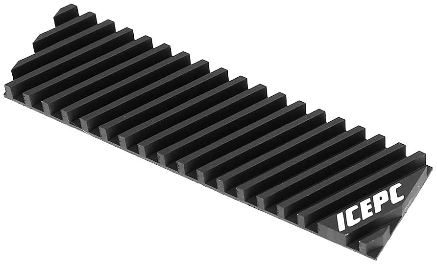 icepc M.2 PCI-E NVME 2280 SSD Graphene Coating Copper Heatsink,High Performance SSD Radiator with Thermal Conductive Adhesive for Laptop PC 2280 NGFF Solid State Disk Cooler(70x20x4.0mm)