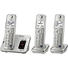 Panasonic KX-TGE263 DECT 6.0 Link2Cell Bluetooth® Cellular Convergence Solution, 3 Handsets