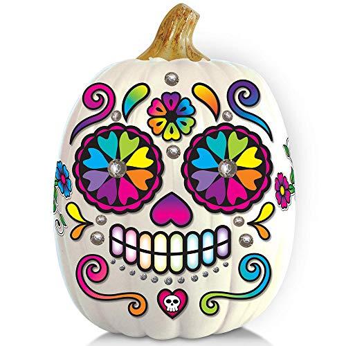 Sugar Skull Day of The Dead Dia de Los Muertos Pumpkin Craft Kit ()