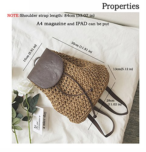 3 Gift Handbag Handmade Girl Fashion Straw Shoulder HopeEye Yellow Bag Beach Womens grey Crossbody Bags wOOPUYq