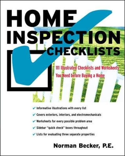 Home Inspection Checklists: 111 Illustrated Checklists and ...
