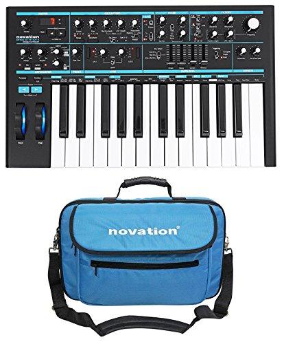 Bass Synthesizer - Novation BASS STATION II 25-Key MIDI USB Analog Keyboard Synthesizer + Carry Bag
