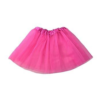77f5f0d40 DAN Falda, Chicas Falda de Tutú Princesa Ballet Realizando Vestido Ropa de  baile (nina, rose red): Amazon.es: Deportes y aire libre