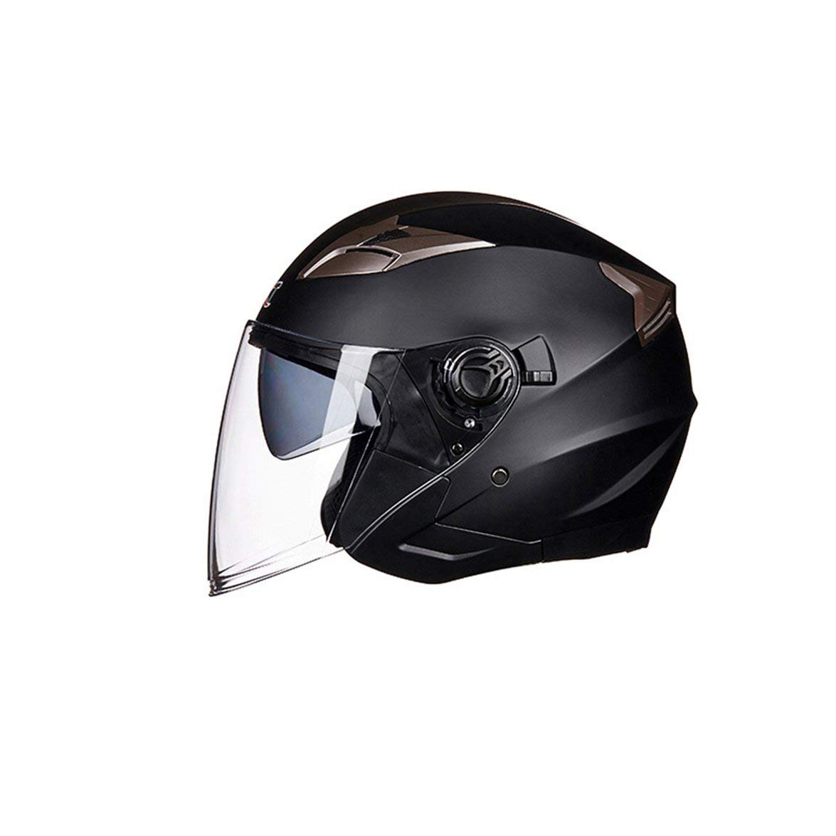 Kongqiabona Casco Moto Moto Open Face Ciclomotore Jet Bobber Helmet Pilot per Adulti