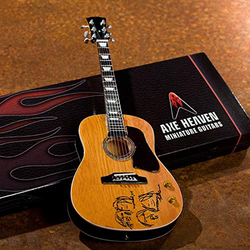 "John Lennon ""Give Peace a Chance"" Acoustic Guitar Model: Miniature Guitar Replica Collectible"