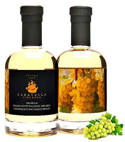 Caravella Premium 100% italiano Vinagre Balsámico Blanco (dulce y denso) envejecido en barriles
