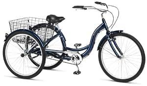 Schwinn Hampton 26-Inch Tricycle, Dark Blue, 16-Inch Frame