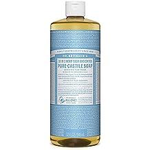 Dr. Bronner's Pure-Castile Liquid Soap - Baby Unscented, 32oz.