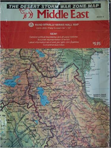 Middle East The Desert Storm War Zone Map Rand McNally Series