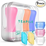 Portable Travel Bottles TSA Approved Containers,Leak proof Silicone Travel Shampoo And Conditioner Bottles,Perfect for Business or Personal Travel, Fun Outdoors, and Much More.