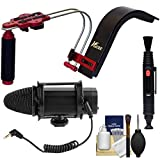 VGear Shoulder Stabilizer Support System for DSLR Cameras with Microphone + Lens Brush Pen + Kit