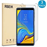 "[3PACK] Samsung Galaxy A7 2018 Screen Protector Glass, RBEIK 9H Hardness Anti-Scratch Anti-Fingerprint 2.5D Glass Easy-Install Samsung Galaxy A7 2018 6.0"" Screen Tempered Glass Screen Protector"