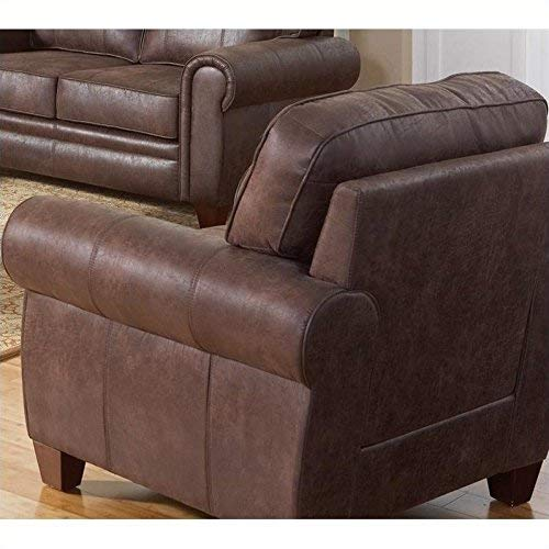 Allingham Chair with Microfiber Upholstery Brown ()