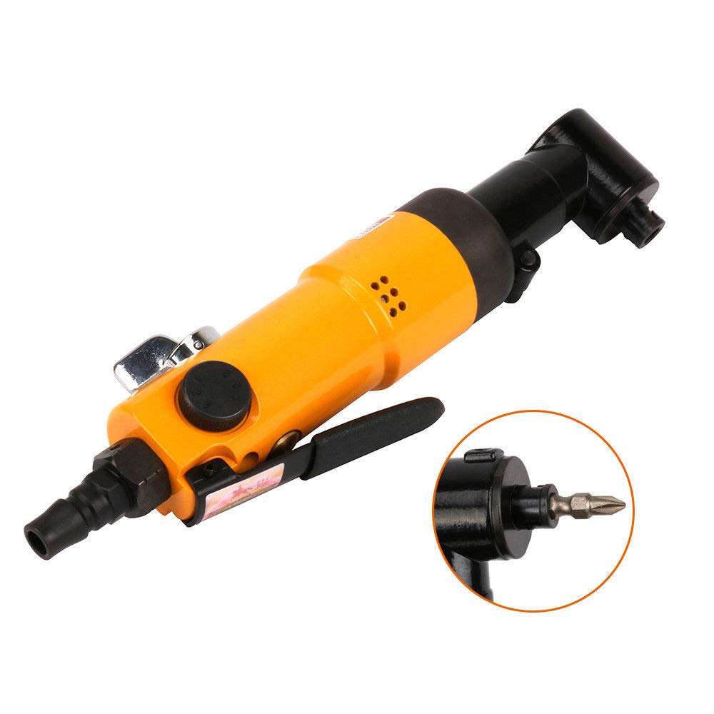 Pneumatic 90 Degree Right Angle Air Screwdriver Reversible Type Air Tool 9000RPM SYPARTS