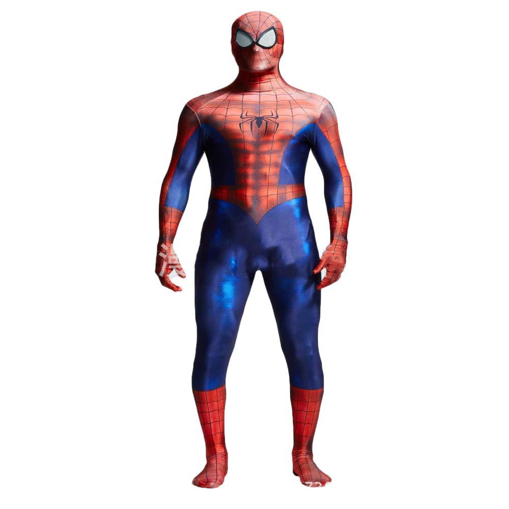 Super Spider-Man 3D Digital Print Strumpfhose Cosplay Kostüm All-Inclusive,ROT-180-190cm