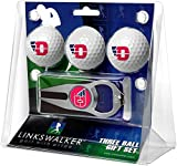LinksWalker NCAA Dayton Flyers - 3 Ball Gift Pack with Hat Trick Divot Tool