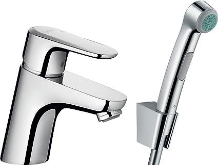 Hansgrohe 32126000 - Alcachofa para WC para baño Intime Bidette con grifo mezclador de lavabo Ecos chrome