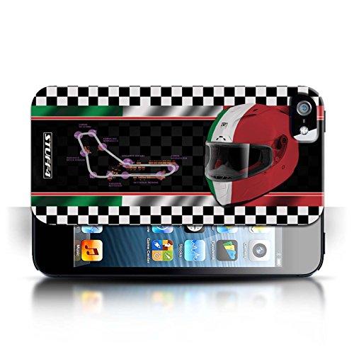 iCHOOSE Print Motif Coque de protection Case / Plastique manchon de telephone Coque pour Apple iPhone 5/5S / Collection F1 Piste Drapeau / Italie/Monza