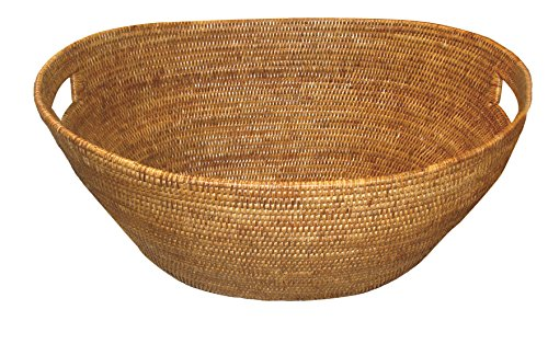 Artifacts Trading Company Rattan Boat Laundry Tapered Basket, 25