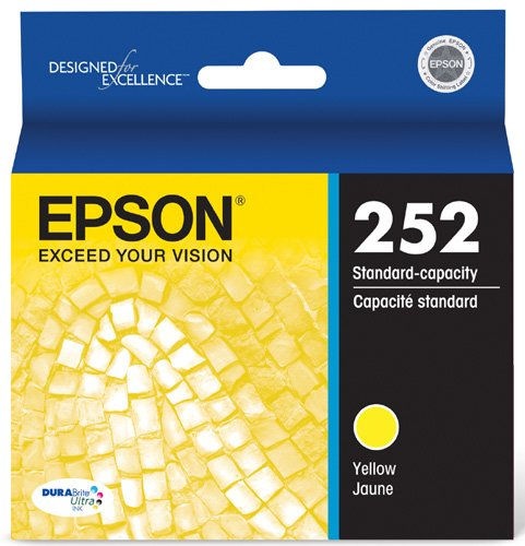 Standard Capacity Yellow Cartridge - Epson T252420 DURABrite Ultra Yellow Standard Capacity Cartridge Ink