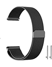 22mm Milanese Loop Watch Band Magnetic Closure Mesh Stainless Steel Replacement Strap for Samsung Gear S3 Frontier / S3 Classic / Huawei Watch 2 Classic - Black