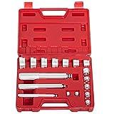 bushing set - Go2buy 17PCS Auto Bearing Race Seal Driver Disc Tool Master Set Wheel Axle Bushing W/ Case