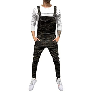 Bluestercool - Pantalones Vaqueros para Hombre, diseño de Overall ...