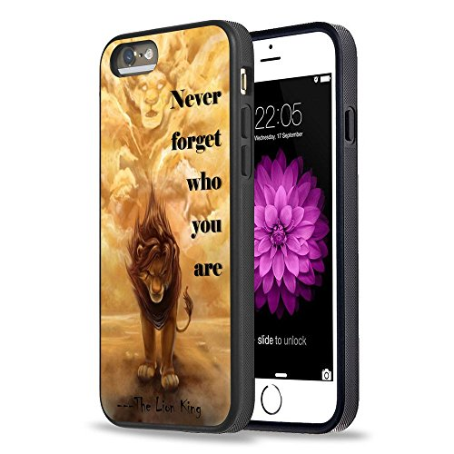 iPhone 5S Case Apple 5/5s Black Cover TPU Rubber Gel - Never forget who you are - The Lion King