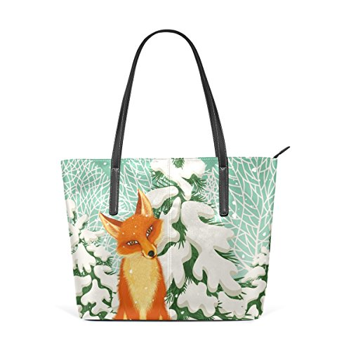 Coosun Red Fox Pu Leather Handbag Bags Purse And Tote Bag For Women Means Muticolour