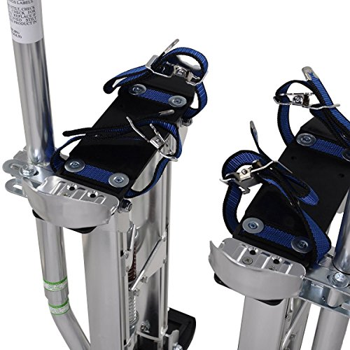 Alightup Aluminum Tool Stilts 24 to 40 inches Height Adjustable Drywall Stilt Lifts for Taping Painting Finishing Portable Lifting Tool Silver by Alightup (Image #3)
