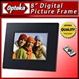 Opteka DF-TFT8 8-Inch Digital Picture Frame with 128MB Built-In Memory (Black)