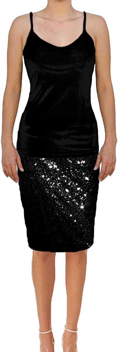 Full Multi Tone Sequin High Waisted Skirt with Elasticated Waistband FREE P/&P!
