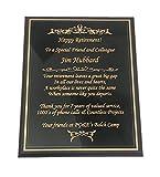 NWA Wooden Plaque, Retirement, Achievement Award,...