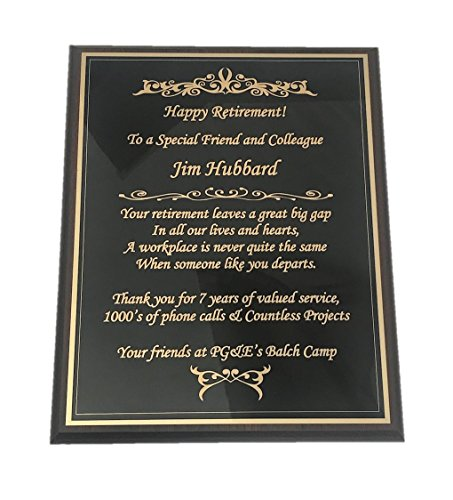 NWA Wooden Plaque, Retirement, Achievement Award, Sports, Customized, Engraving Included
