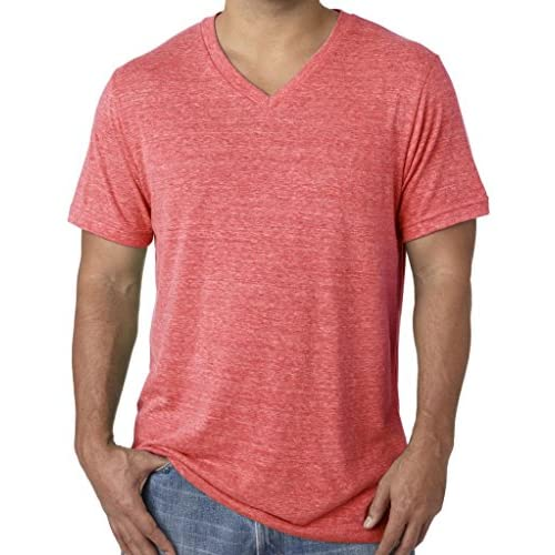 Yoga Clothing For You Mens Tri Blend V-Neck Tee Shirt Mens Medium, Green Triblend
