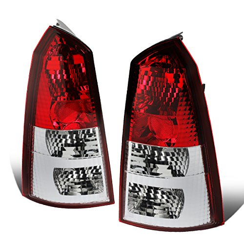 For 2002-2007 Ford Focus 5Dr Wagon Pair Red/Clear Lens Tail Light Brake/Reverse Lamps