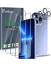 Ferilinso Designed for iPhone 13 Pro Max Screen Protector, 3 Pack HD Tempered Glass with 2 Pack Camera Lens Protector, Case Friendly, 9H Hardness, Bubble Free, 5G 6.7 Inch, Easy Installation