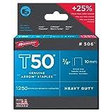ARROW STAPLES T50 BOX 1250 3/8IN