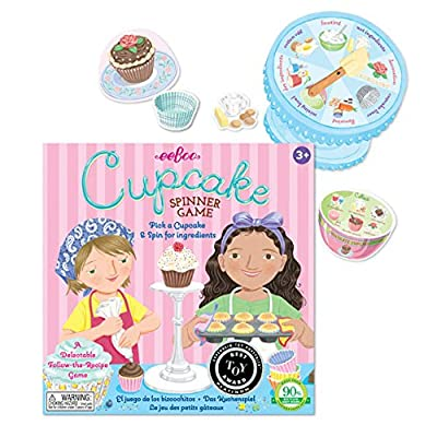 eeBoo The Cupcake Spinner Board Game for Kids: Toys & Games