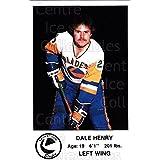 Dale Henry Hockey Card 1983-84 Saskatoon Blades #11 Dale Henry