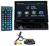 "Planet Audio P9759B 7"" 1-Din in-Dash Car DVD Receiver w/Bluetooth USB/SD+Camera"