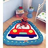Triangle Kids Carpet Playmat Rug - Cotton Texture For Playing With Cars and Toys Diameter 59 Inch