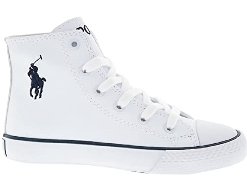 1b25cf664 Ralph Lauren Polo White Navy Marson High Top Sneakers UK 13 EUR 31:  Amazon.co.uk: Shoes & Bags