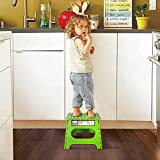 Acko Green 11 Inches Non Slip Folding Step Stool