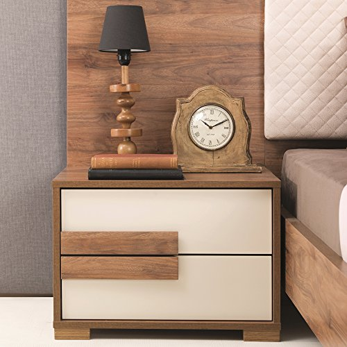 Adam and Illy AUR0471 Aura Nightstand, Marble Walnut/Ceramic (Aura Design Furniture)