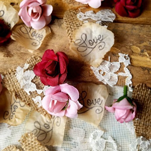 rustic bridal shower decorations wedding table runner burlap and lace confetti wedding flowers