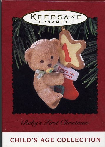Hallmark Keepsake Ornament Baby's First Christmas 1996 QX5764 - Amazon.com : Hallmark Keepsake Ornament Baby's First Christmas 1996