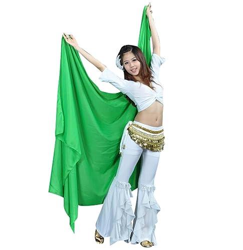 ZhiYuanAN Donna Chiffon Danza del ventre Costume Chiffon Big Velo Shawl Scarf