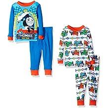 Thomas The Train Baby Boys' 4-Piece Cotton Pajama Set with Choo