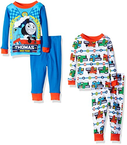 Thomas the Train Boys' 4-Piece Cotton Pajama Set with Cho...